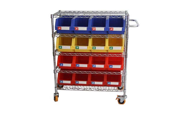 Mobile chrome wire shelving carts manufacturer