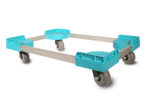 Durable mobile dolly for plastic storage box, crates, containers