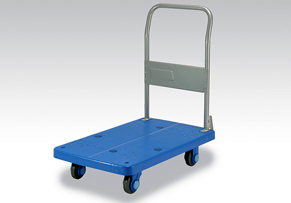Mobile noiseless platform truck moving easily