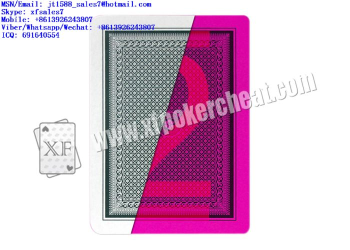 XF I-GRADE Plastic Playing Cards With Invisible Ink Markings For Lenses And Poker Scanner