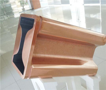 beam blank copper mould tube for  continuous casting line to produce steel rails