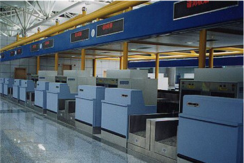 airport One or two stage check-in desk system/check-in conveyor for airport equipment construction provider