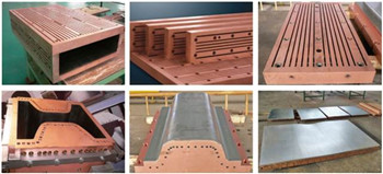 CCM copper mould plate for slab casting machine