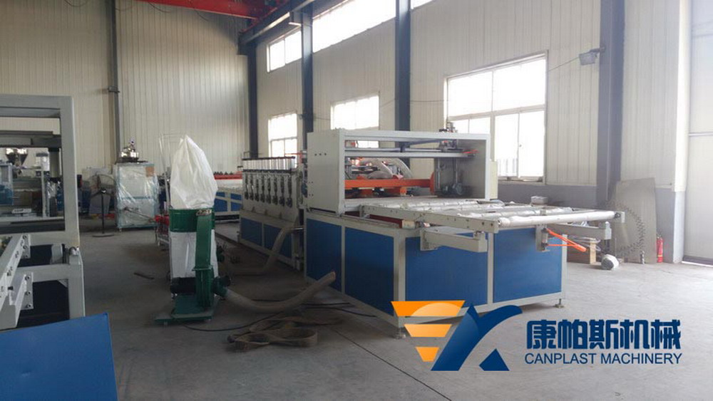 PVC wood plastic skinning foam board production line