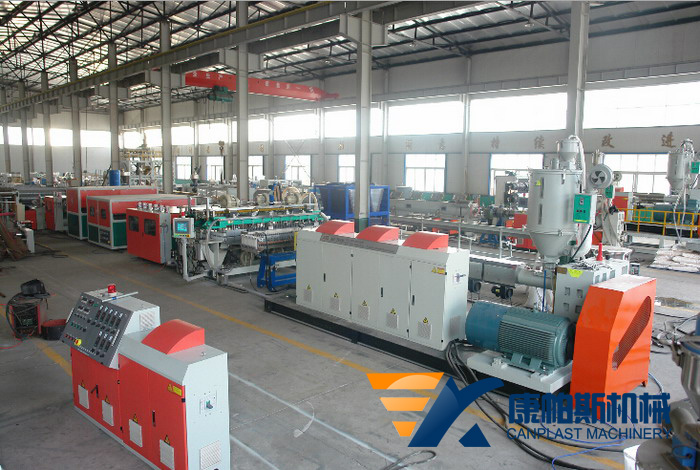 PC center hollow grid sheet production line
