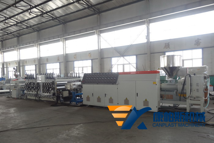 PE, PP, PS, PVC thick board production line