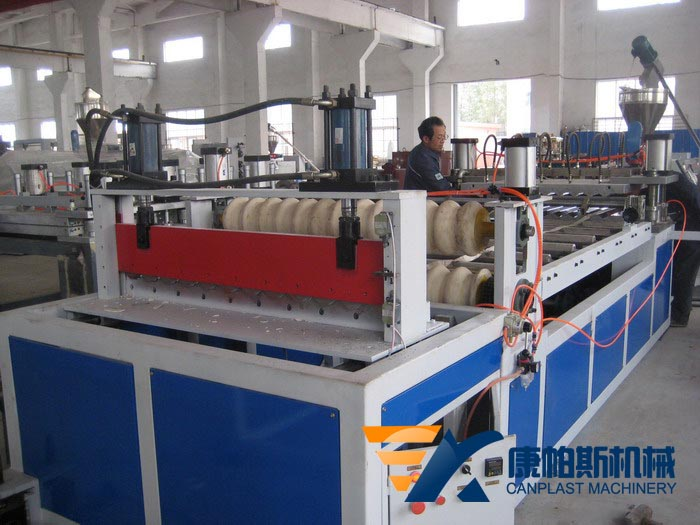 PP,PVC wave board production line