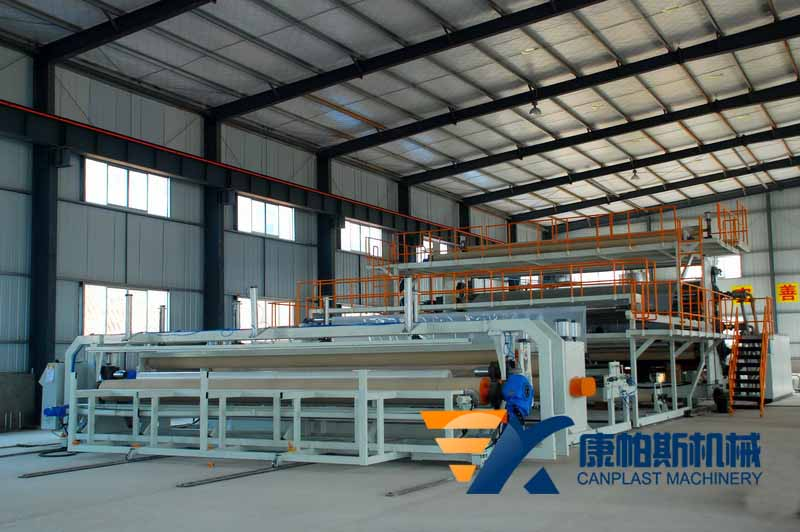 Waterproof coiled membrane production line
