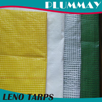 waterproof transparent PE leno tarpaulin cover on Constructions