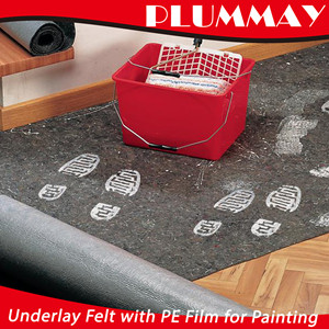 Anti-slip decoration fleeces Painting mat underlay felt with floor protection