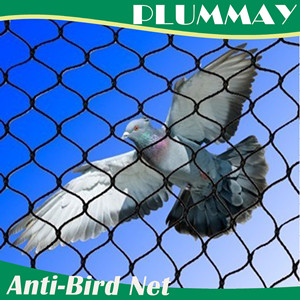 Plastic black HDPE extrude anit bird netting anti animal net