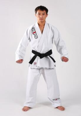 Cotton/polyester white twill karate uniforms karate suits karate gis with WKF approved