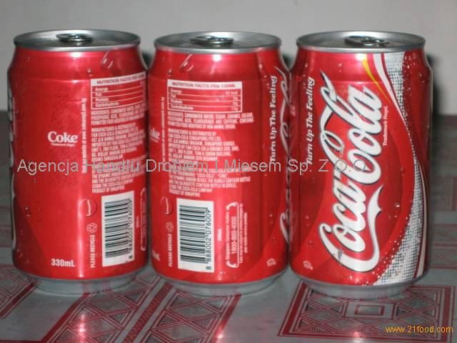 Soft Drinks Coca - Soft drink Cola can 330ml