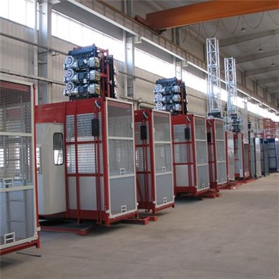 Double Cage Variable Speed Multifunctional Hoist Lifting Rebar and Concrete Separately