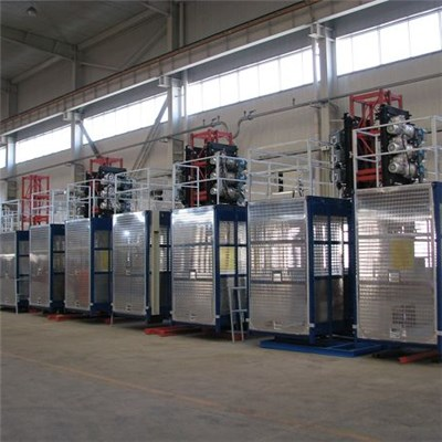 SC200/200 Twin Cage Rack and Pinion Hoist with Middle/high Speed