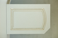 customer design white MDF kitchen cabinet doors