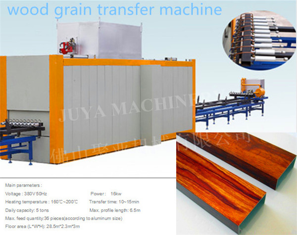 wood grain effect transfer printing machine