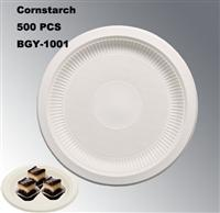 High Capacity Disposable Biodegradable Corn Starch Material Tableware Dishes Plates