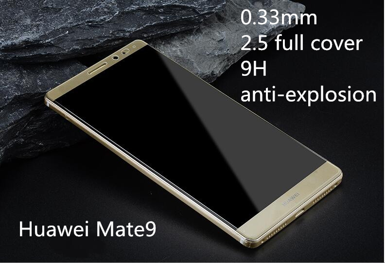 2.5D edge full cover 9H tempered glass screen protector for Huawei Mate9