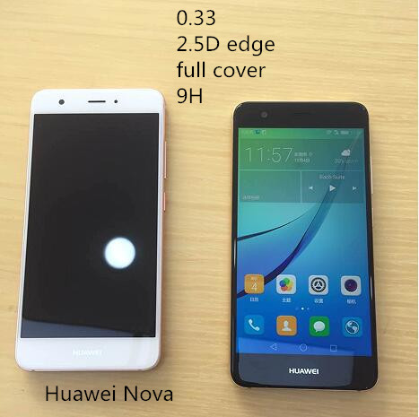 2.5D edge full cover 9H tempered glass screen protector for Huawei Nova