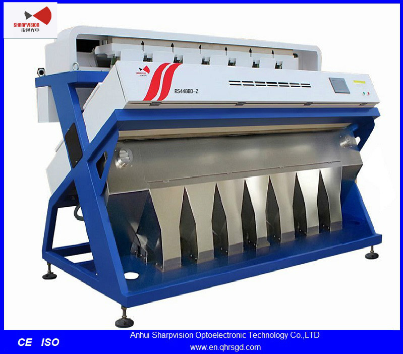 Hot Selling Optical CCD Camera walnuts Color Sorter Machine with Selecting and impurifing System RS448B-Z