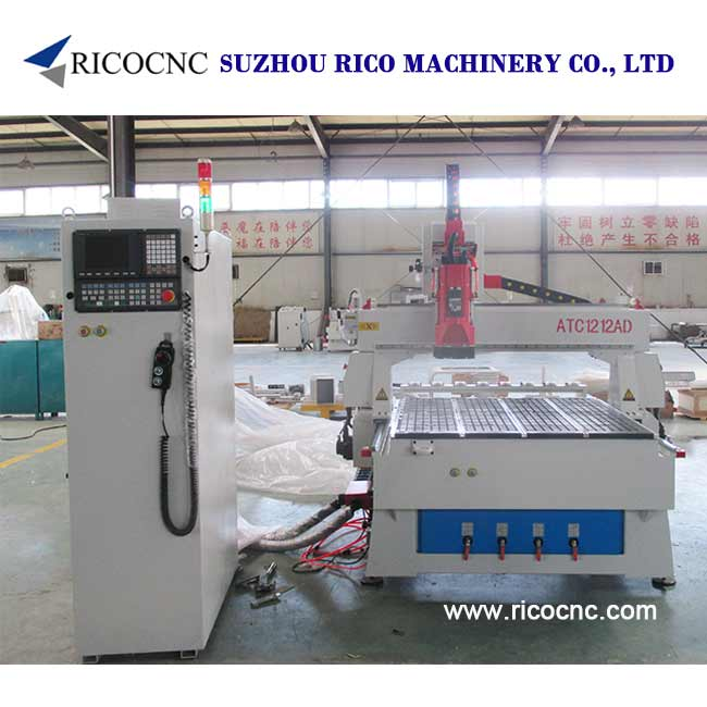 Automatic Tool Changer Machine 4x4 Feet CNC Router for Wood and Plastic Signs ATC1212AD