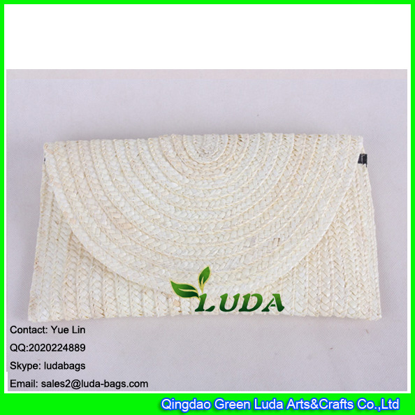LDMC-125 white clutch bag wholesale lady straw handbags