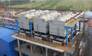 evaporative condenser (EC) for power generation and petrochemical industry