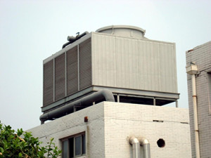crossflow counterflow FRP cooling tower