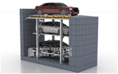 Three Floors Pit Type Stack Parking Underground Parking Lift