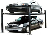 Four Post Home Used Hydraulic Parking car lift For Home Garage