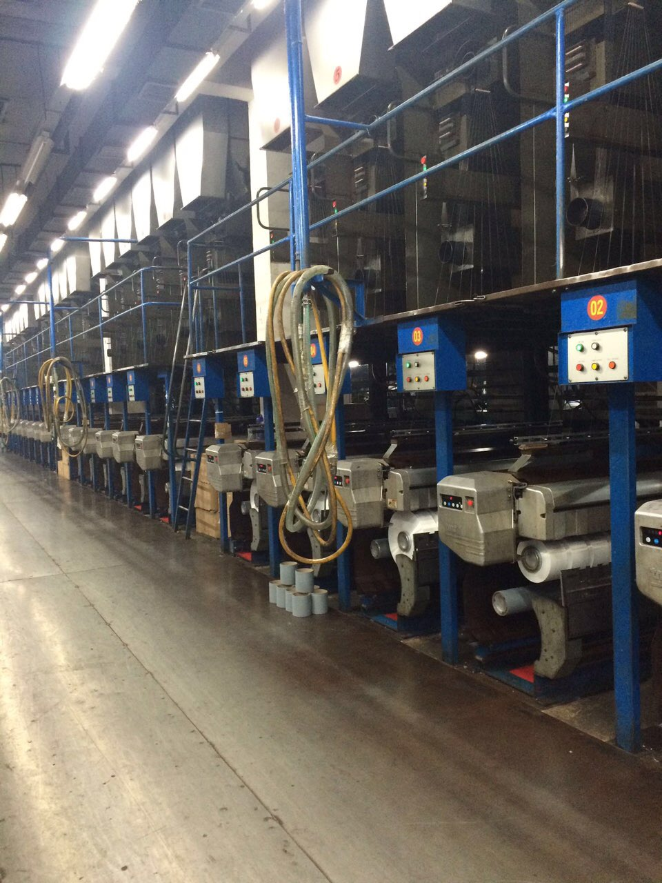Used Barmag Polyester, Nylon 6 and Nylon 66 POY and FDY spinning production line