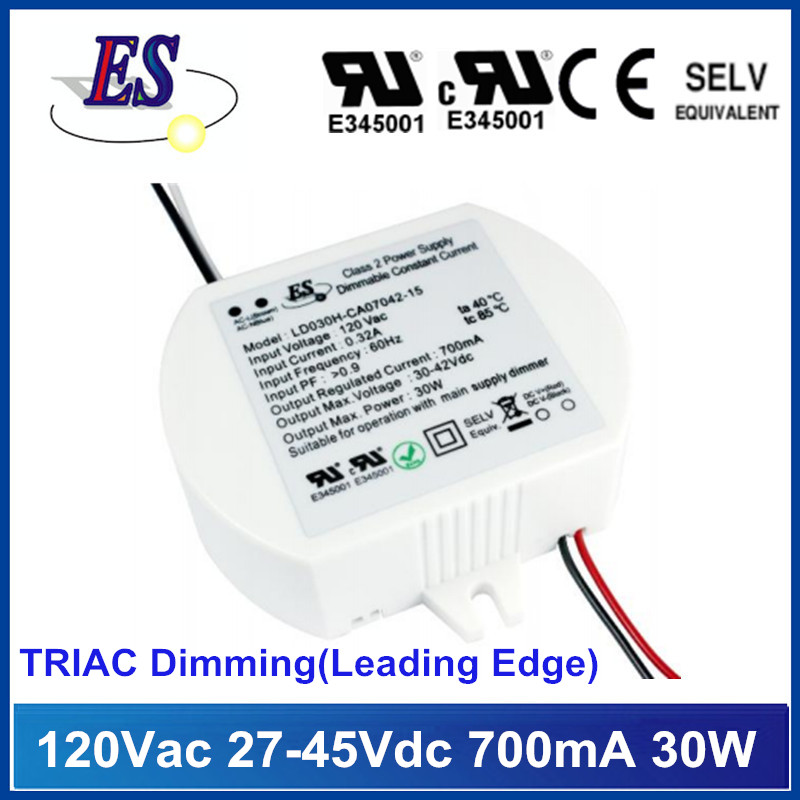 30W LED Driver with TRIAC/ELV Dimmer,Leading/Trailing Edge Dimming