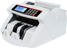 WHITE  LCD UV/MG MODEL FAKE NOTE DETECTOR,BANKNOTE COUNTING MACHIENS