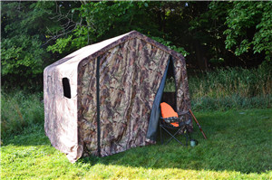 WEATHERFAST GARDEN SHED CAMO FABRIC WITH WINDOW 8'X8'X7' ALL PURPOSE TEMPORARY STORAGE SHELTER