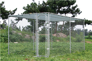 CHAIN-LINK DOG KENNEL 7.5'X13'X6'