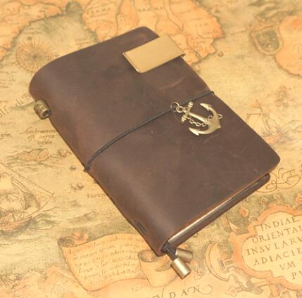 Handmade cowhide travel genuine leather notebook