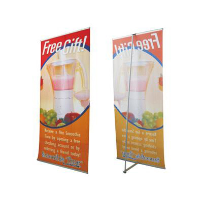 Stable quality protable advertising exhibition promotion L Stand classic