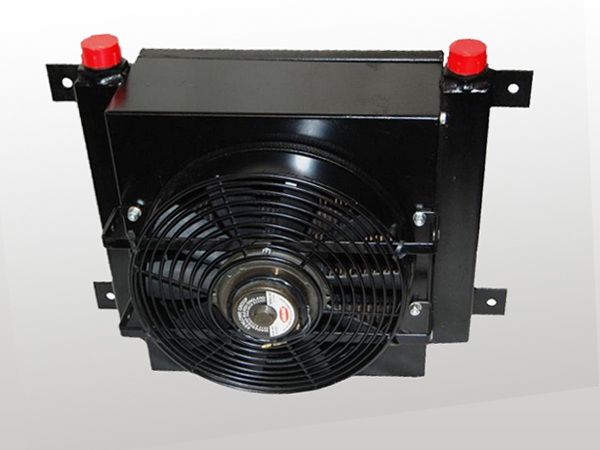 Plate fin aluminum hitachi excavator hydraulic oil cooler radiator with fan