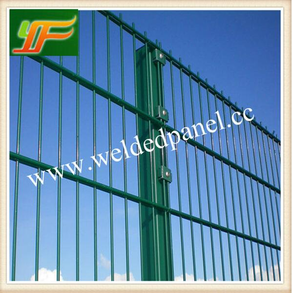 Germany and UK Standard double wire powder and pvc coated ornamental double wire loop football fence