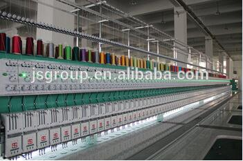 Computer JINSHENG 4 Needles 58 Heads Embroidery Machine