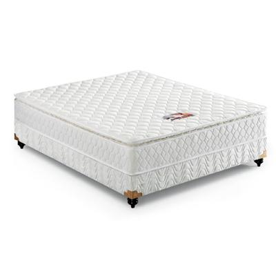 Eco Friendly Lodge Bedroom Double Size Cotton Fabric Firm Feeling Memory Foam With Pocket Spring Mattress