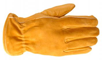 Grain Cowhide Leather Palm With Split Cowhide Leather Back Safety Winter Gloves For Driving