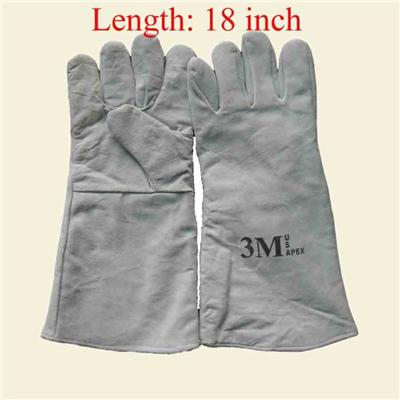High Quality For Duty Work Leather Welding Gauntlet Gloves