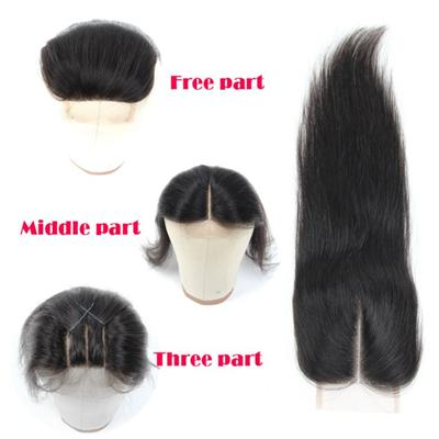 Straight 3 Way Part Lace Closure