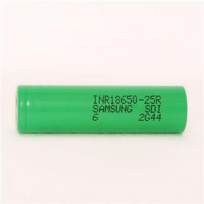 For Green Samsung 25r 18650 2500mah 3.7v 20a In Rechargeable High Drain Battery For Ecig
