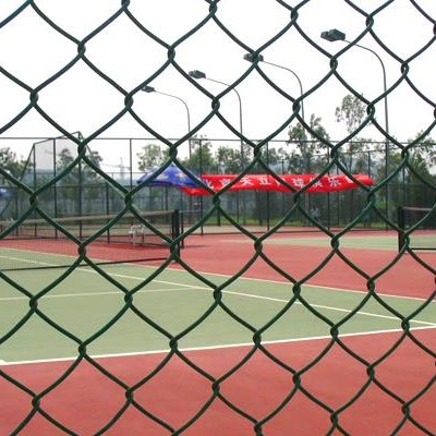 Galvanized, Vinyl Coated Chain Link Fencing, Chain Link System, Sport Fence