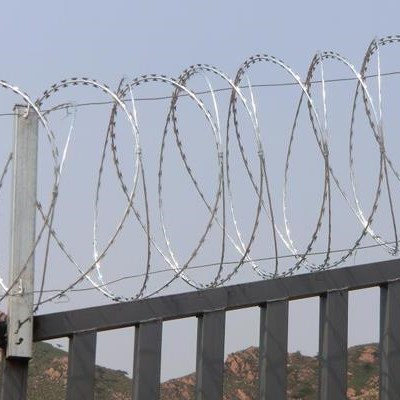 Galvanized/Stainless Steel Razor Barbed Wire, Flat Wrap Razor Wire