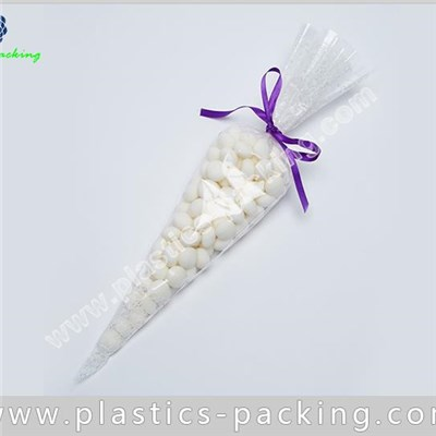 Small Cone Shaped Plastic Bags OPP Cello Cone Bags Suppliers BOPP Clear Cone And Shaped Film Bags