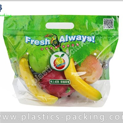 Fresh Fruit And Vegetables Ziplock Bags Custom Printed Banana Fruit Zipper Pouch